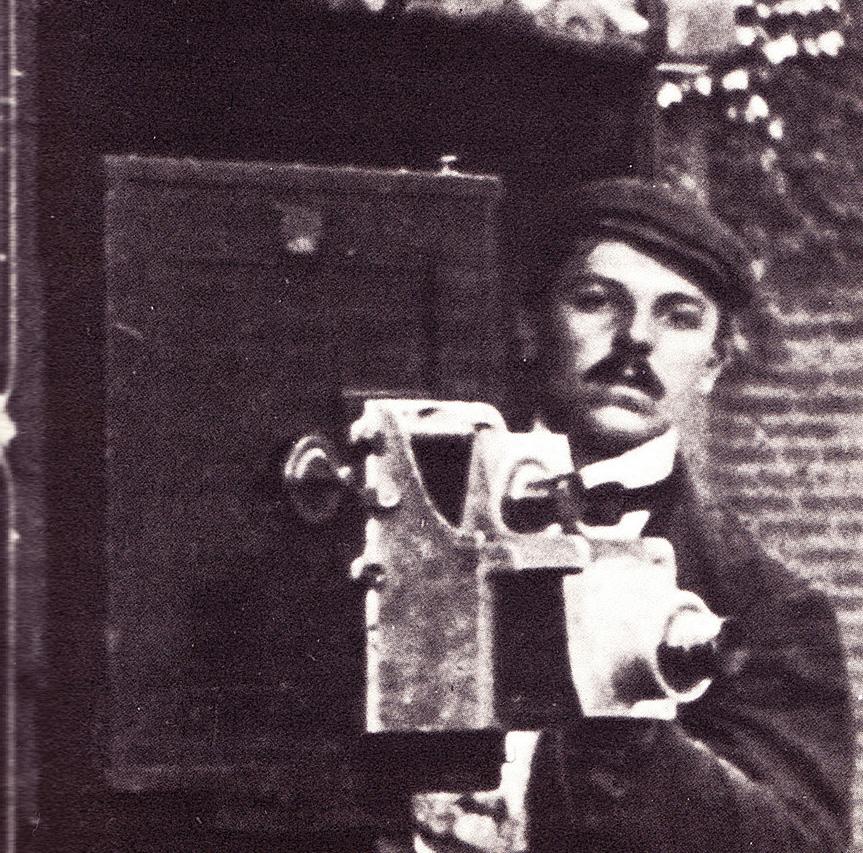 "G.W. ""Billy"" Bitzer in 1908, sporting a mustache like his idol's, W.K.L. Dickson."