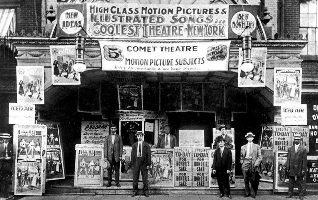 Comet Nickelodeon NY 1910