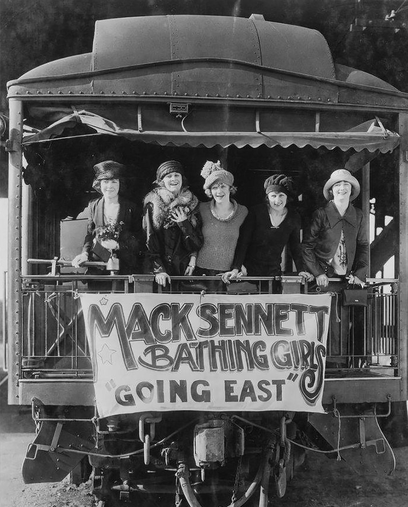 Sennett bathing beauty train